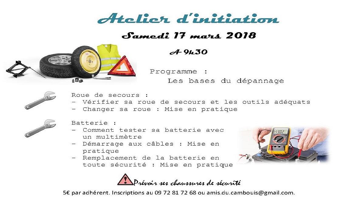 Atelier d initiation amis du cambouis for Atelier du jardin d acclimatation